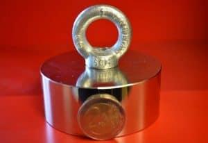 Vismagneet 275 kg, neodymium magneten, neodymium magneet, sterke magneten, sterke magneet, magneetvissen kopen,super magneet, magneet met 240kg trekkracht, vismagneet, magneetvissen, magneet, , metaaldetectie, Neodymium, 240KG trekkracht