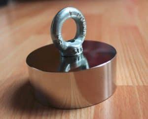 Vismagneet 275 kg, neodymium magneten, neodymium magneet, sterke magneten, sterke magneet, magneetvissen kopen,super magneet, magneet met 275kg trekkracht, vismagneet, magneetvissen, magneet , metaaldetectie, Neodymium, 275KG trekkracht