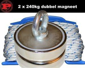 dubbele magneet, dubbele vismagneet