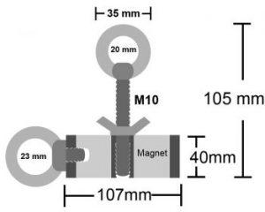 dubbelzijdige vismagneet, dubbelzijdige magneet, magneet 2 kanten, magneet beide zijden, magneetvissen dubbelzijdig, vismagneet dubbelzijdig, vismagneet, magneetvisssen